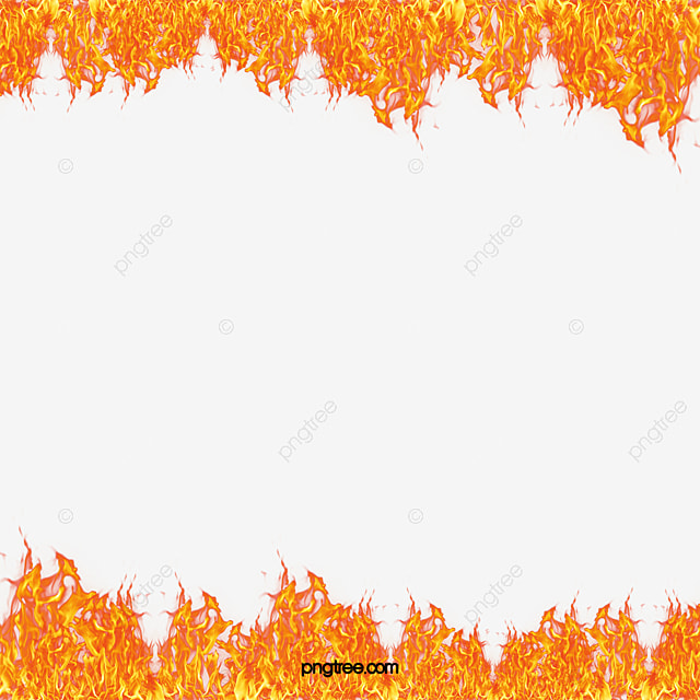 Ring Of Fire Border Frame Flame Vector Png And Vector