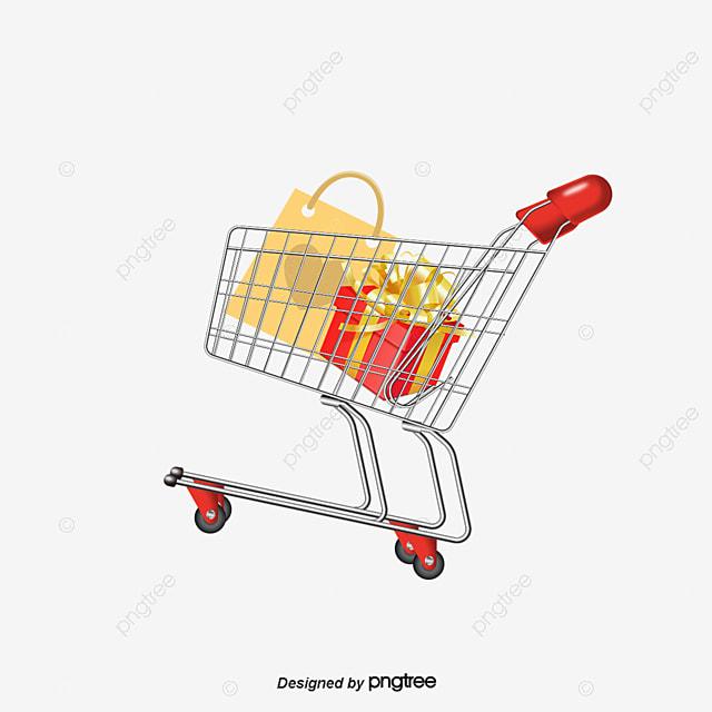 448ed82c8 Carro De La Compra De Material De Vectores Creative Shopping Trolley ...