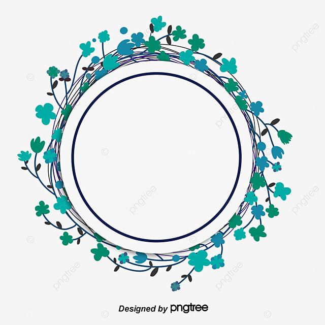 free green circle border pattern buckle design simple