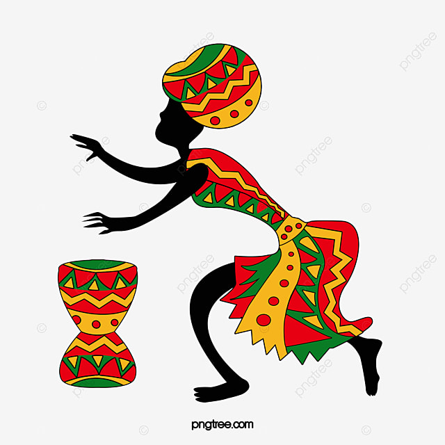 people of african drums djembe crazy dance totem png image and rh pngtree com Modern Dance Clip Art Book Clip Art