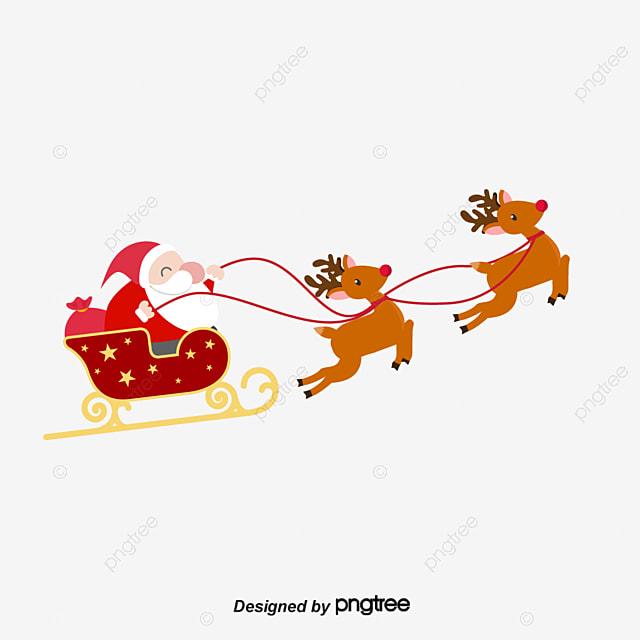 vector cartoon santa claus with deer hand painted santa claus hand painted reindeer - Reindeer And Santa