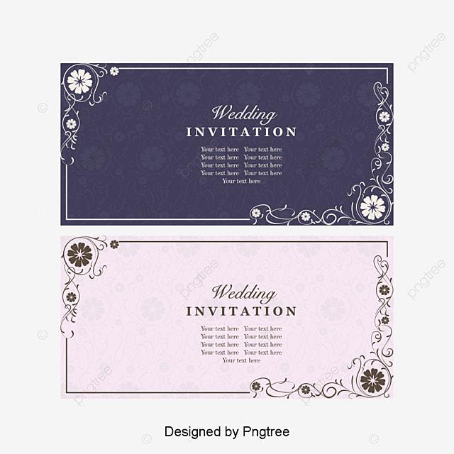 Vector Flores Convites Convites Casamento Casamento Png E: Fazer Convite De Casamento Vintage Antigo Padrão Vetor