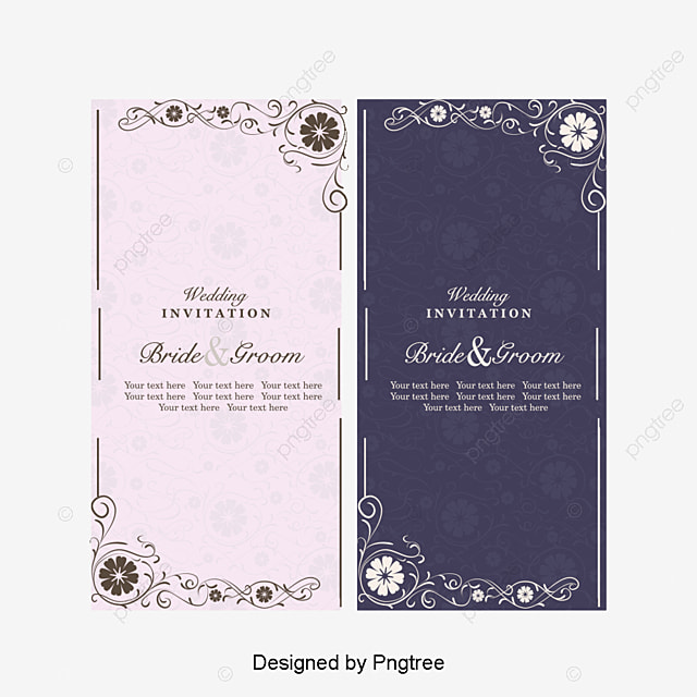European And American Vintage Style Wedding Invitations Vector
