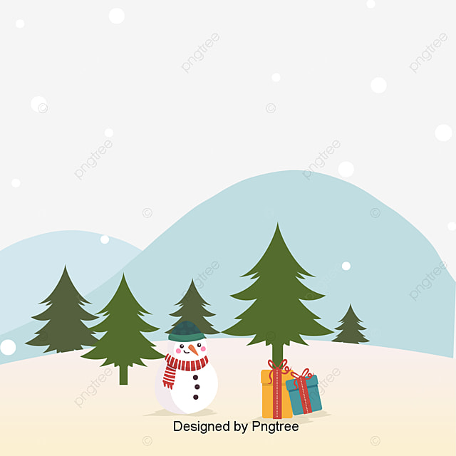 Cute Christmas Background Star Tree Balls Free PNG Image And Clipart