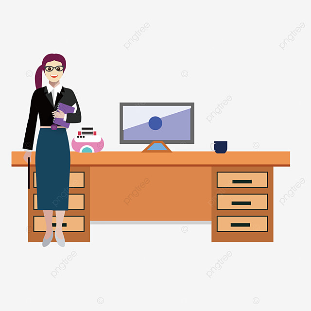 Bureau de vecteur outil de travail en mati re de vecteur for Herramientas de oficina