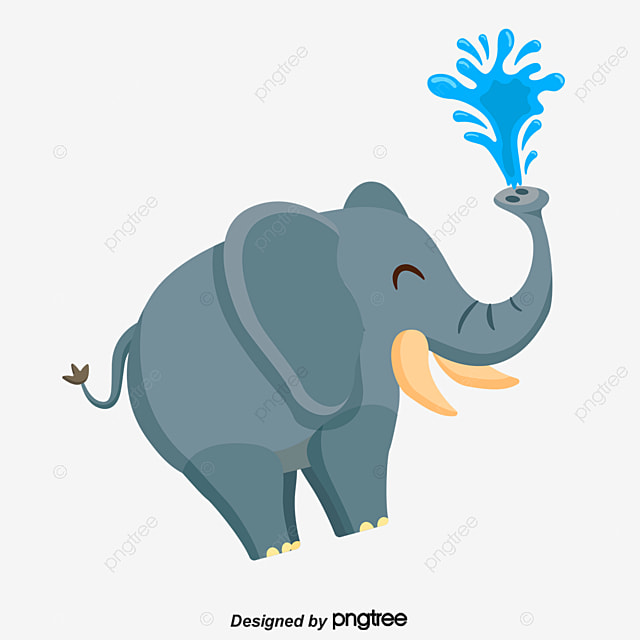 Cute Baby Elephant Cartoon Poster