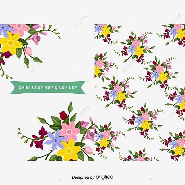 Vector Fondo Floral Y Dos Tipos De Tarjetas, Flores, Color, Hojas ...