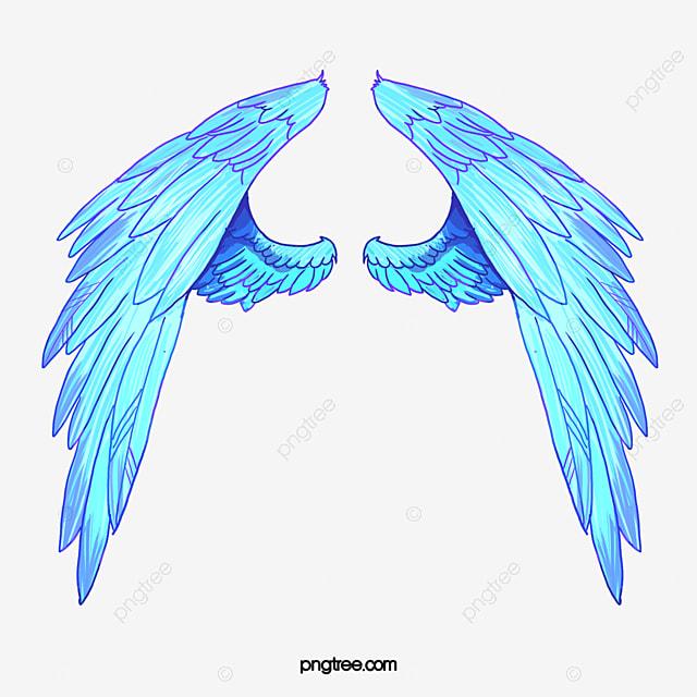 Ailes D Ange Dessin des ailes d ange style de dessin bleu des ailes d ange image png