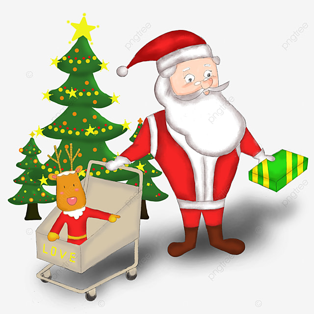 santa claus reindeer christmas tree tree clipart santa clipart christmas png image and