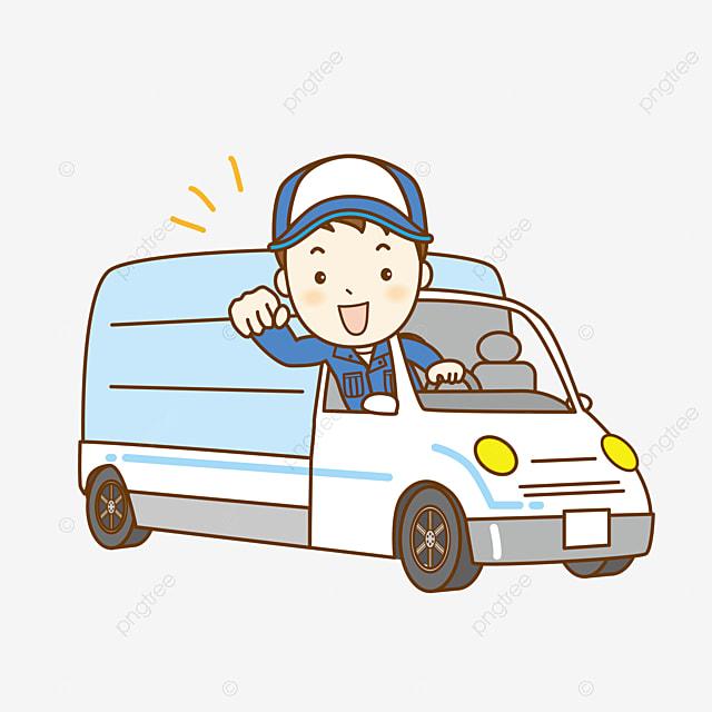 truck driver, cartoon car, creative cars, the driver element png