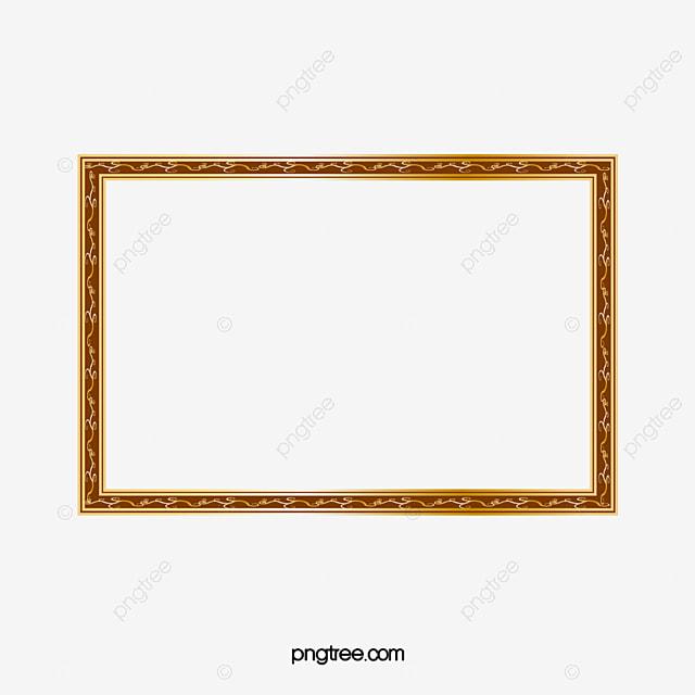 Clássico Moldura De Ouro Photo Frame Moldura Padrão PNG