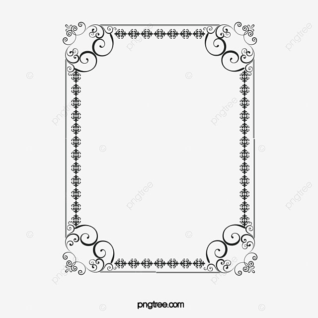 creative silver border simple continental pattern png
