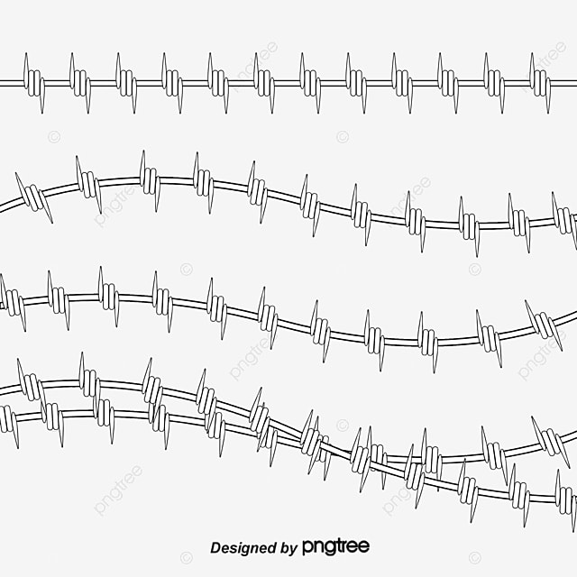 Barbed Wire Frame Material, Frame Vector, Frame, Barbed Wire PNG and ...