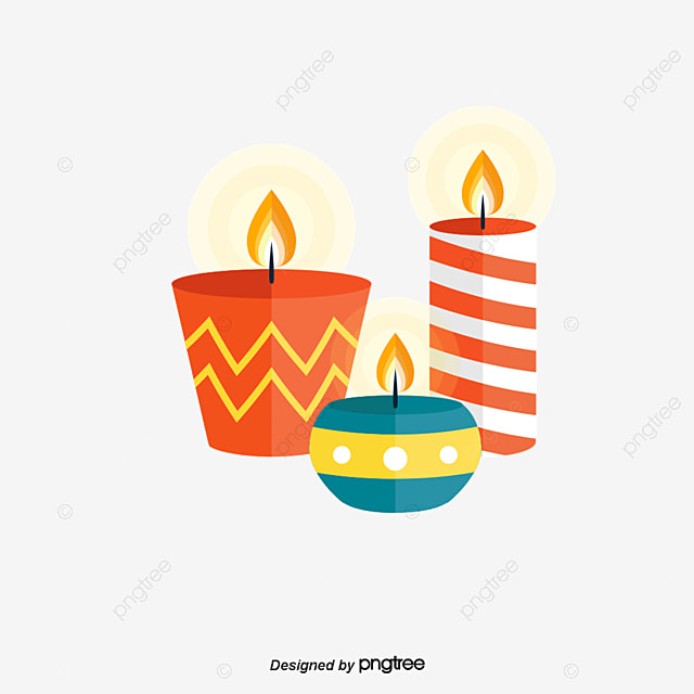 Junior Diwali Posters Vector Material Candle Blue Red Free PNG And