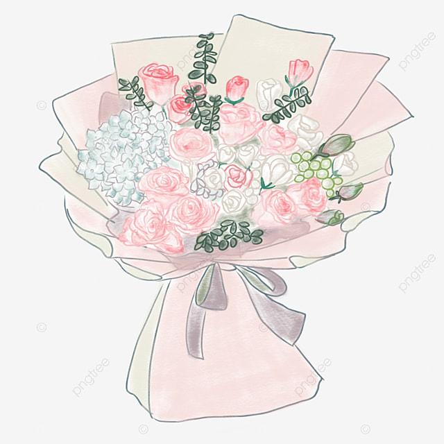 lavender bouquet elegant bouquet png image and clipart