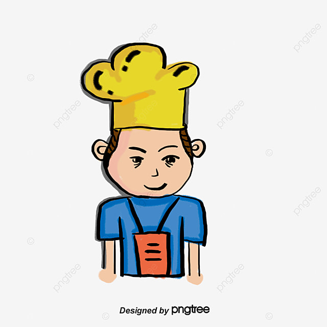 Los Niños Cocinar Chef De Dibujos Animados Los Niños Cocinar Lengua
