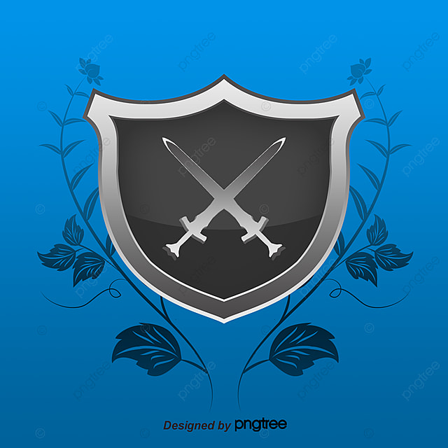 Vector Silver Shields Knight Shield Cross Swords Png And Vector