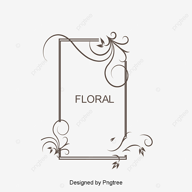 Flowers Border Design Free Stock Png Vector PNG And