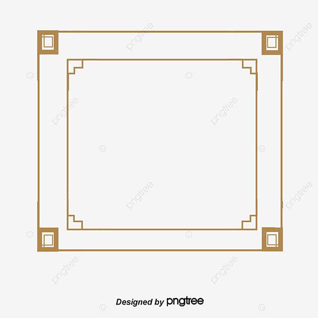 Creative Orange Border Chinese Style Orange Frame Png