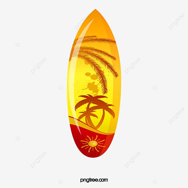 Tabla gratis pull tabla de surf amarillo verano imagen - Disenos de tablas de surf ...