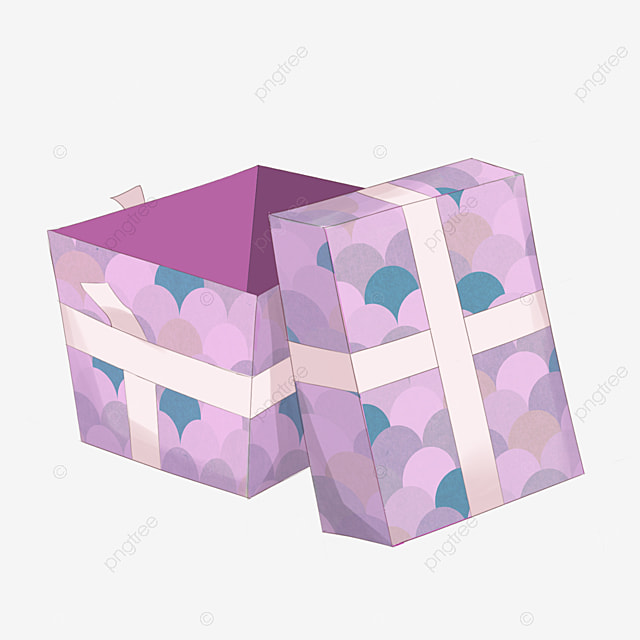 Open The Gift Box Clipart Boxes Blue PNG Image And