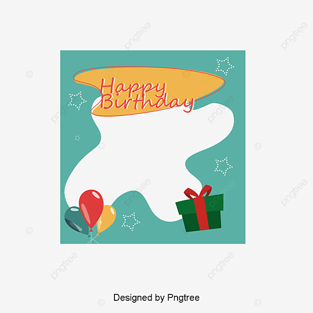Birthday Photo Frame Vector Material, Happy Birthday, Frame, Photo ...