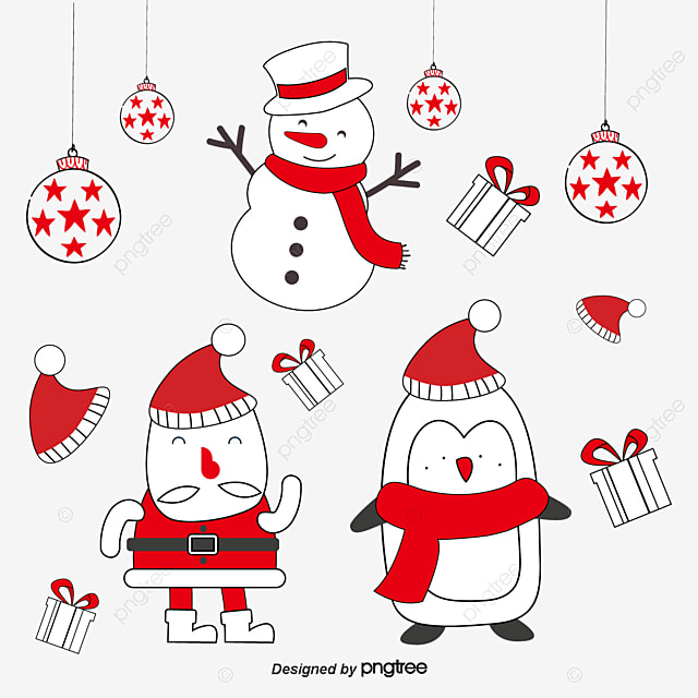 Santa Claus And Snowman Snowman Clipart Creative Christmas Santa