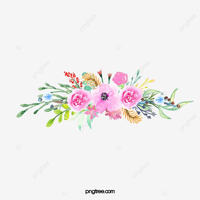 Bouquet Watercolor Flowers Watercolor Clipart Hand