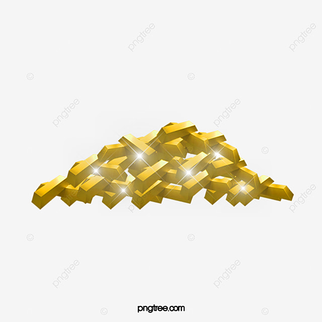 Bright Yellow Gold Heap Bullion Jinduicheng Png Image And Clipart