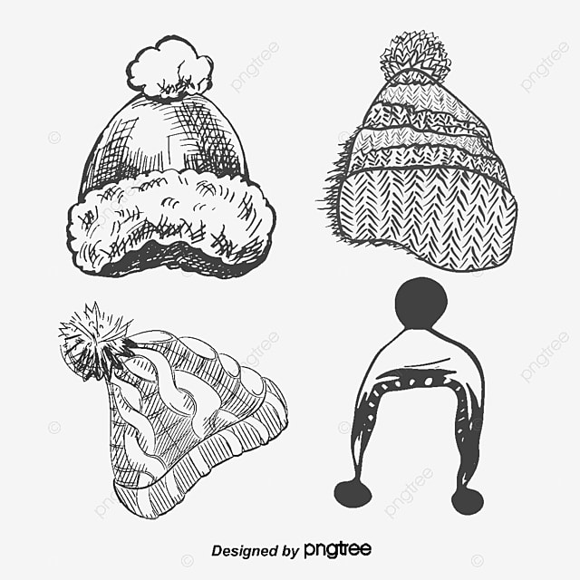 It is a picture of Universal Winter Hat Drawing