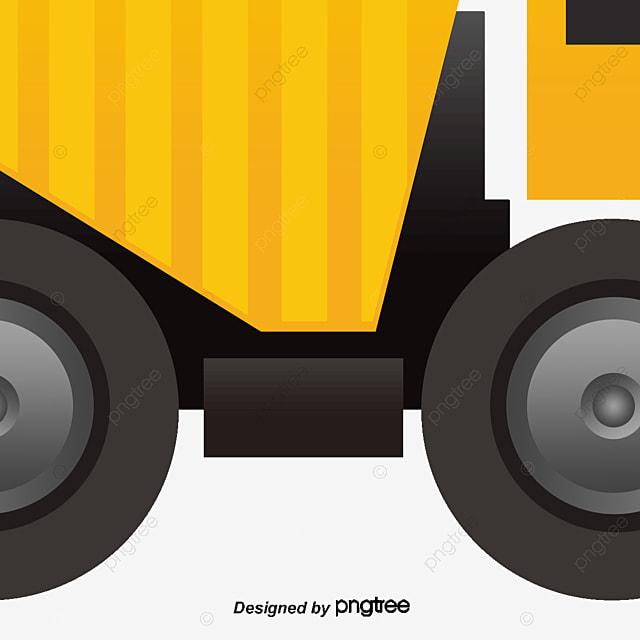 vector yellow truck truck clipart vector excavator png