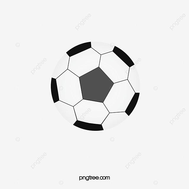 Fussball Den Ball Mit Der Hand Gezeichneten Cartoons