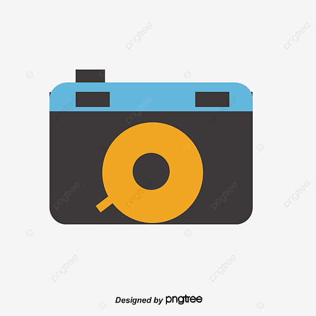 flat cartoon camera flat camera icon png and vector for free download rh pngtree com camera vector icon png video camera vector icon