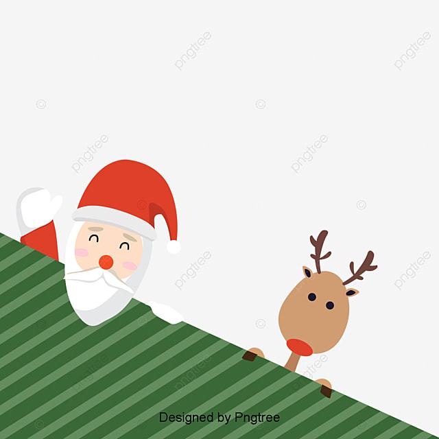 Dibujos animados de navidad santa y ciervos cartoon for Dibujos de navidad pintados
