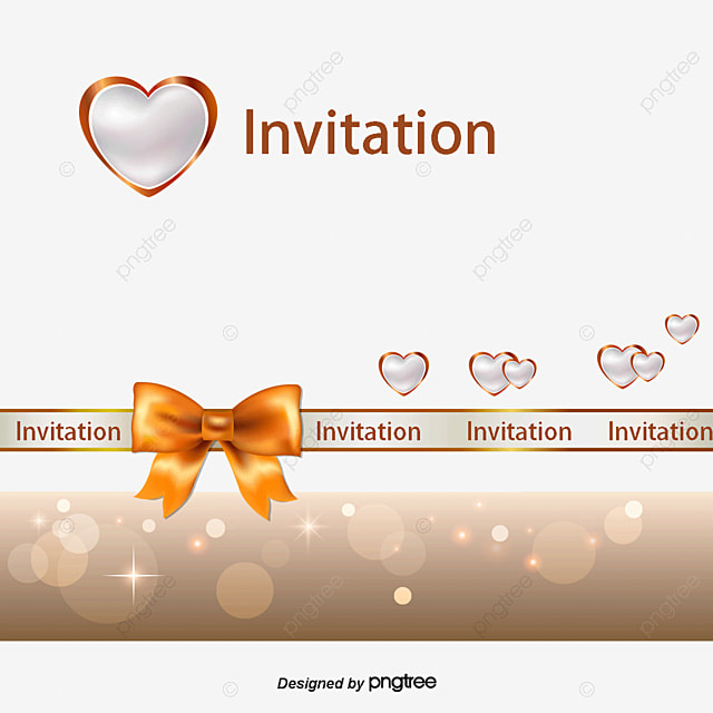 White Heart Shaped Wedding Invitations Templates Bow Greeting Cards