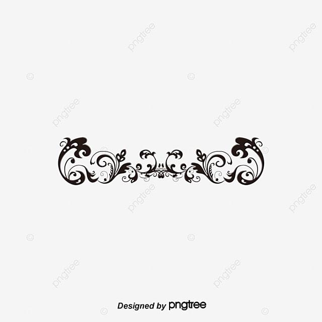 arabesque motif noir vignes fichier png et psd pour le