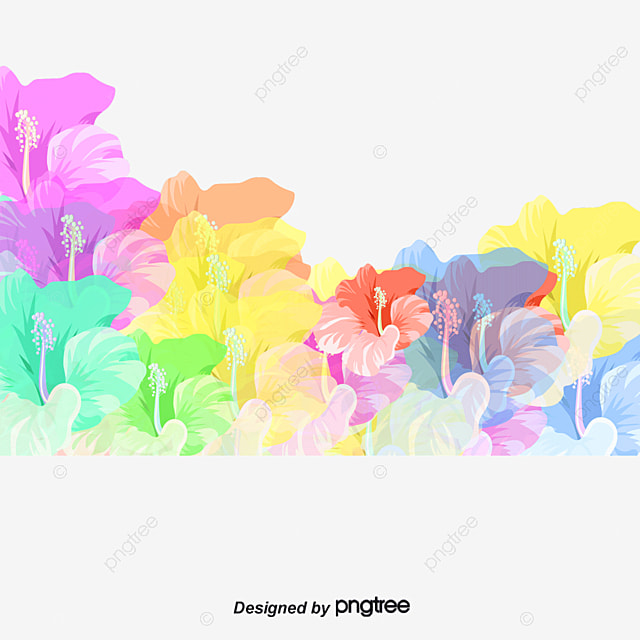 pastel flowers background flowers background vector material png