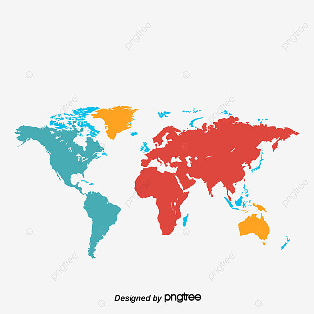 color map of the world world map map vector color map png and