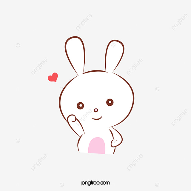 Cute Cartoon Bunny Clipart PNG Image And