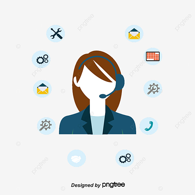 customer service content flat business icons customer