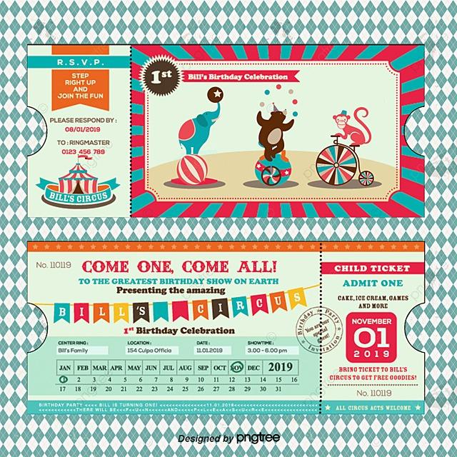Playful birthday invitation tickets Vector material Invitation – Birthday Invitation Tickets