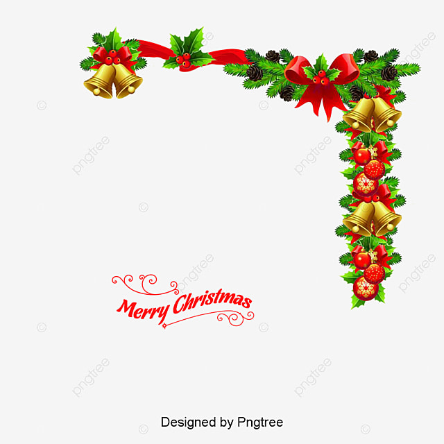Christmas Wreath With Bells Vector Cartoon Bell PNG And