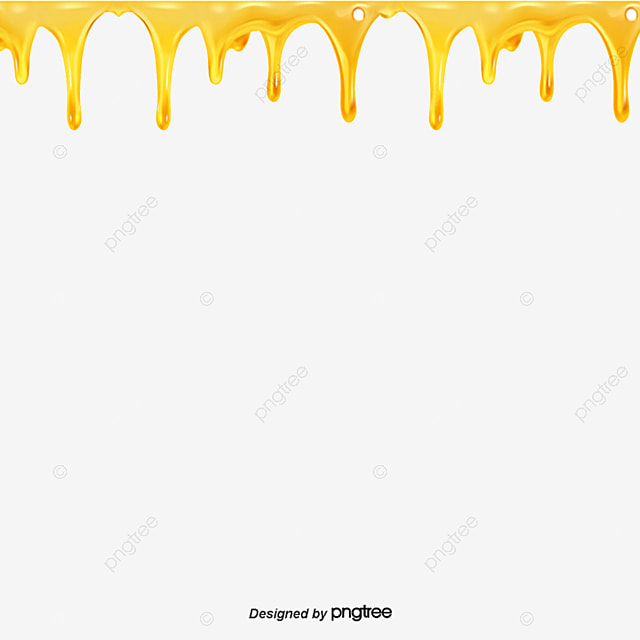 Dripping Honey Honey Yellow Food Png Image And Clipart