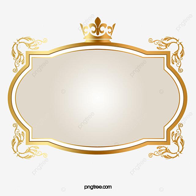 Golden Oval Frame Golden Moldura Oval PNG Imagem Para