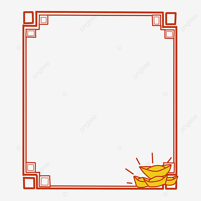 chinese style gold border  chinese clipart  frame  chinese