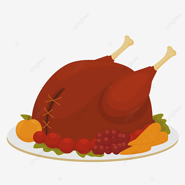A Thanksgiving Dinner Roast Chicken, Dinner Clipart ...