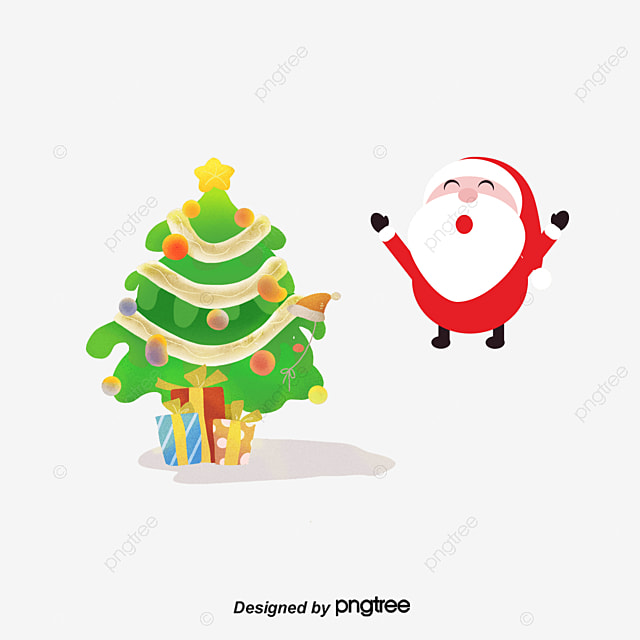 santa claus christmas tree santa claus christmas tree christmas gift png and psd