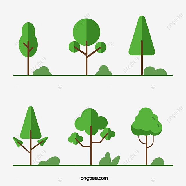 Imagem Vetorial Gratis Mapa Pinos Illustrator Titular: Flat Design Verde Da árvore Verde A árvore Arquivo PNG E