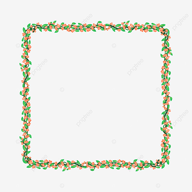 Flower Border Png Transparent Material Vector PNG And