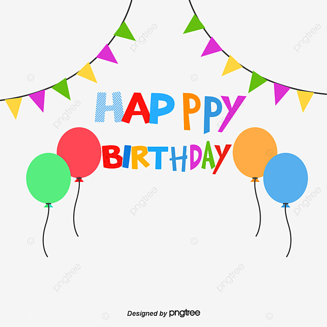 Triangle Pull Flag Vector Happy Birthday Balloons Balloon PNG And
